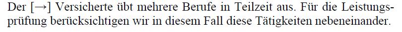 Mischtätigkeiten Berufsunfähigkeitsversicherung Alte Leipziger