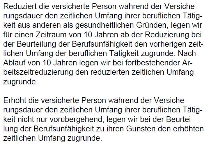 Teilzeitklausel Nürnberger 07.2021