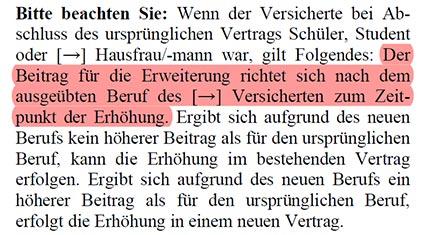 Ausbaugarantie Alte Leipziger Berufsunfähigkeitsversicherung