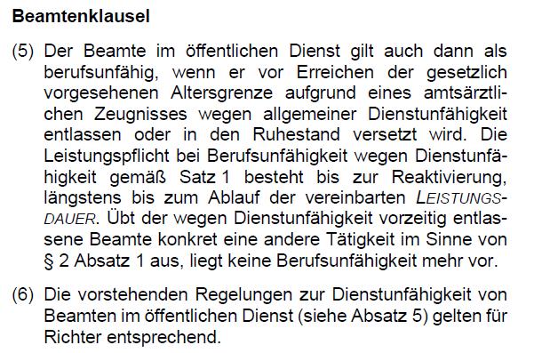 Beamtenklausel Die Bayerische